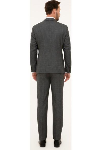 Pierre Cardin Erkek Füme Slim Fit Takım Elbise 50230063-Vr058