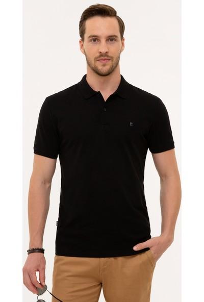 Pierre Cardin Erkek Siyah Slim Fit T-Shirt 50225515-Vr046