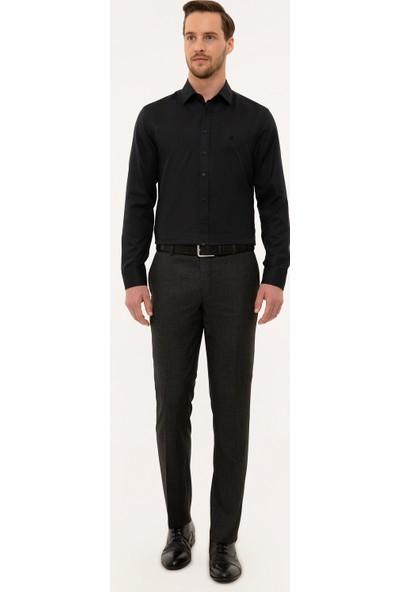 Pierre Cardin Erkek Siyah Slim Fit Gömlek 50227370-Vr046