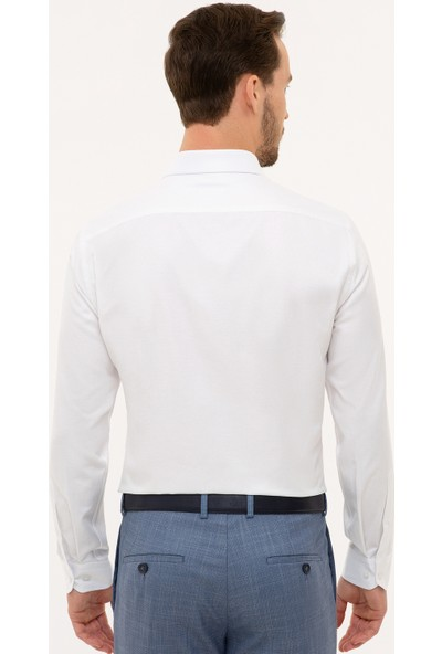 Pierre Cardin Erkek Beyaz Slim Fit Gömlek 50227481-Vr013