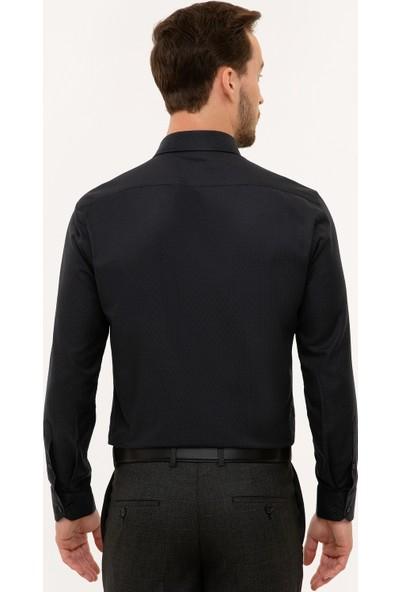Pierre Cardin Erkek Siyah Slim Fit Gömlek 50227481-Vr046