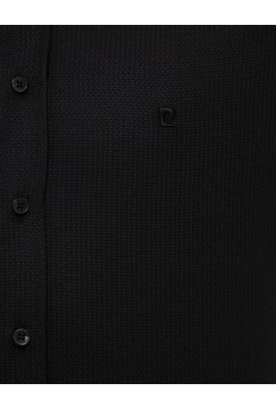 Pierre Cardin Erkek Siyah Slim Fit Gömlek 50227482-Vr046
