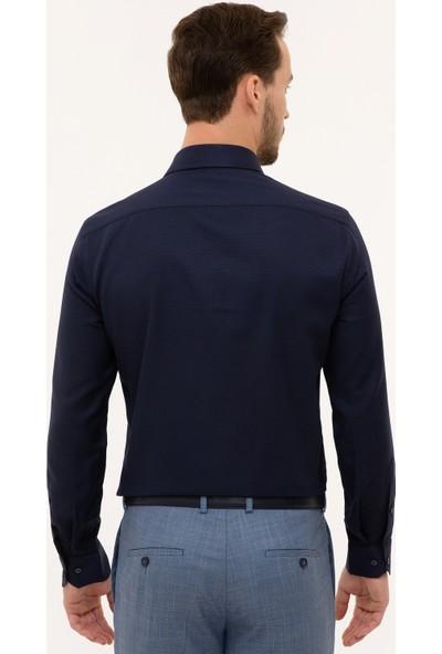 Pierre Cardin Erkek Lacivert Slim Fit Gömlek 50227482-Vr033