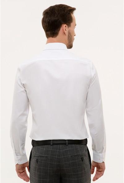Pierre Cardin Erkek Beyaz Slim Fit Gömlek 50231259-Vr013
