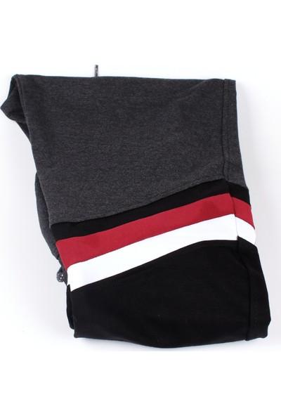 Giymex Erkek Eşofman Gri Siyah