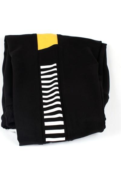 Giymex Erkek Eşofman Siyah Sarı