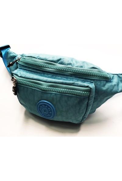 Sanal Bolluk Buz Mavisi Renk Kullanışlı Rahat Kadın Bel Çantası