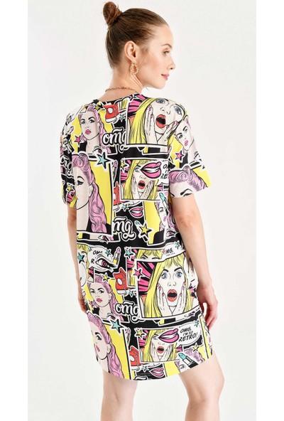 Bigdart 4172 Çok Renkli Elbise