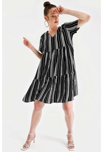 Bigdart 1983 V Yaka Midi Boy Elbise