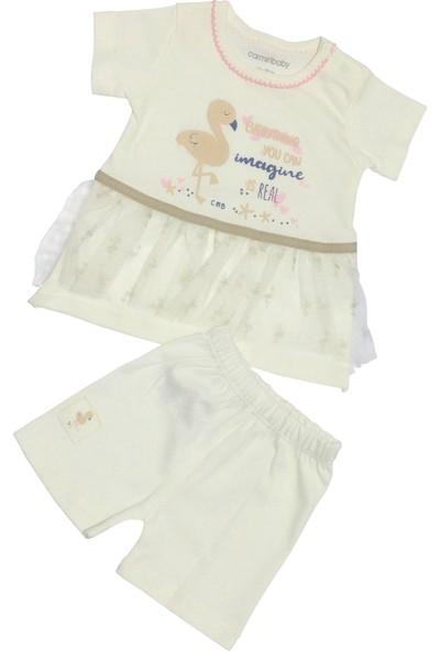Carmin Yazlık Etekli Elbise Kız Bebek Takım