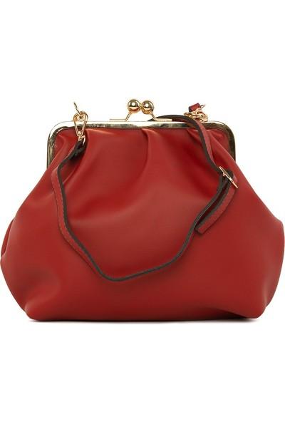 Bagmori Kırmızı Aksesuarlı Burslu Klasik Çanta