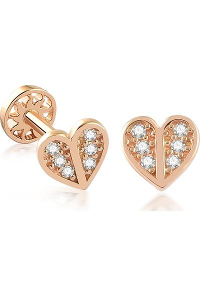 Yapar Jewellery 14 Ayar Altın Kalp Motifli Tragus Piercing