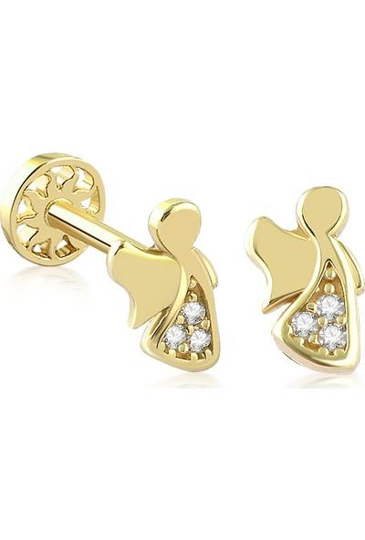 Yapar Jewellery 14 Ayar Altın Melek Kulak Piercing