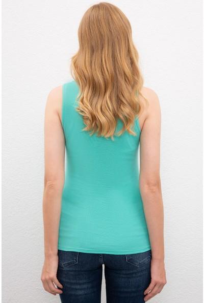 U.S. Polo Assn. Kadın Yeşil T-Shirt Basic 50202105-Vr090