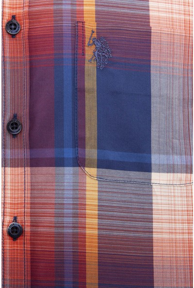 U.S. Polo Assn. Erkek Kırmızı Gömlek Uzunkol 50207057-Vr014