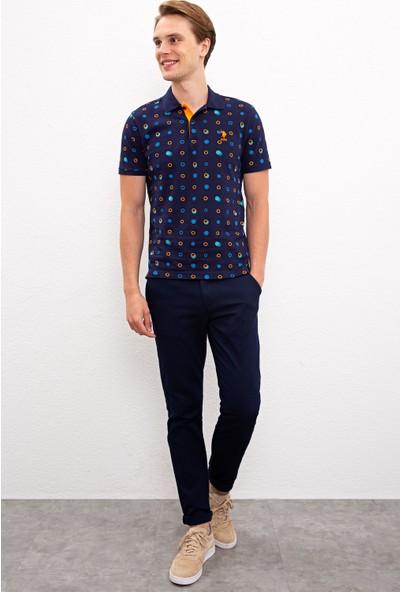 U.S. Polo Assn. Erkek Lacivert T-Shirt 50217955-Vr033