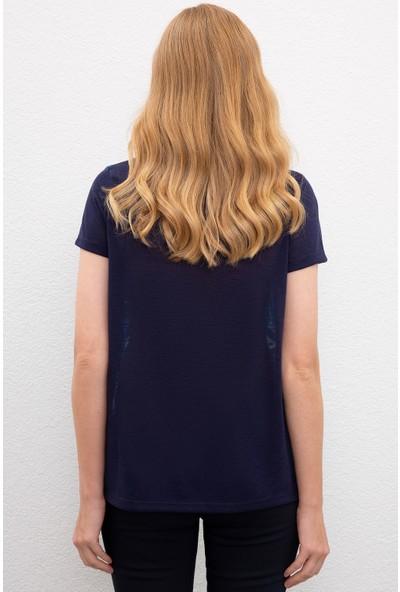 U.S. Polo Assn. Kadın Lacivert T-Shirt 50218063-Vr033