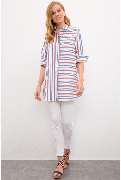 U.S. Polo Assn. Kadın Kırmızı Gömlek Uzunkol 50218853-Vr039