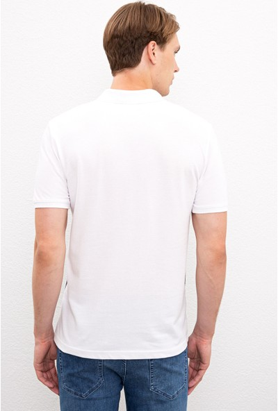 U.S. Polo Assn. Erkek Beyaz T-Shirt 50219473-Vr013