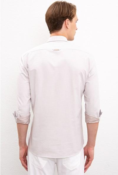 U.S. Polo Assn. Erkek Beyaz Gömlek Uzunkol 50219683-Vr011