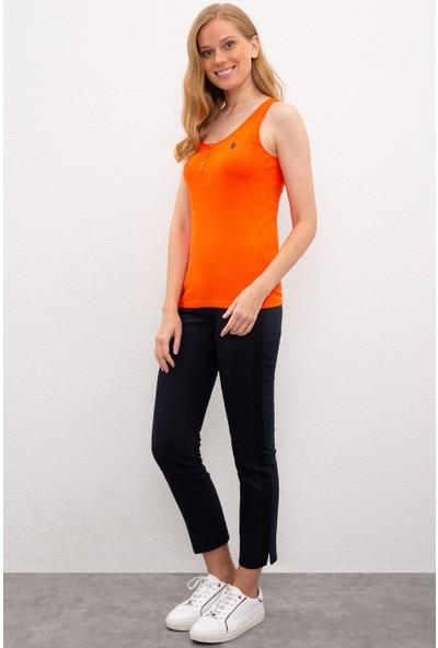 U.S. Polo Assn. Kadın Kırmızı T-Shirt Basic 50219868-Vr039