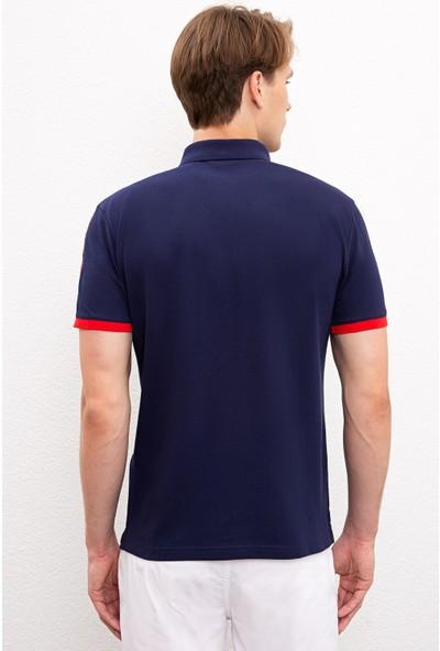 U.S. Polo Assn. Erkek Lacivert T-Shirt 50221448-Vr033