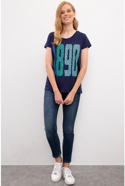 U.S. Polo Assn. Kadın Lacivert T-Shirt 50222314-Vr033