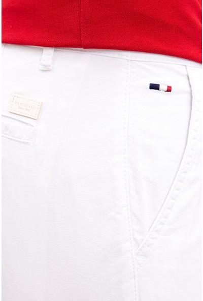 U.S. Polo Assn. Erkek Beyaz Dokuma Bermuda Capri 50222662-Vr013