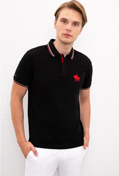 U.S. Polo Assn. Erkek Siyah T-Shirt 50225241-Vr046