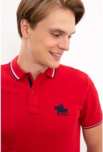 U.S. Polo Assn. Erkek Kırmızı T-Shirt 50225241-Vr098