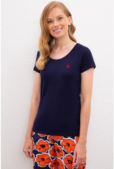 U.S. Polo Assn. Kadın Lacivert T-Shirt Basic 50225760-Vr033