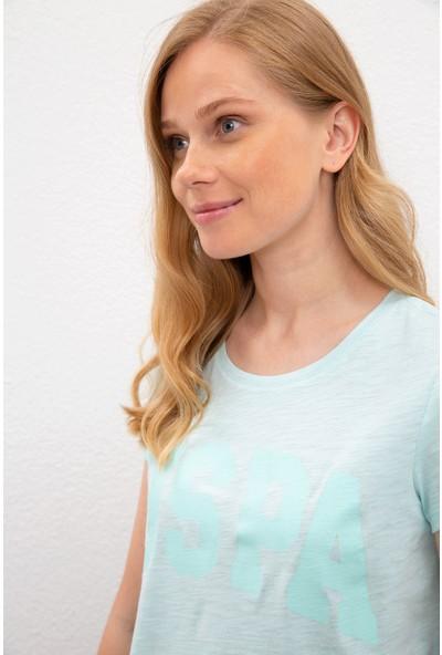 U.S. Polo Assn. Kadın Yeşil T-Shirt 50225789-Vr083