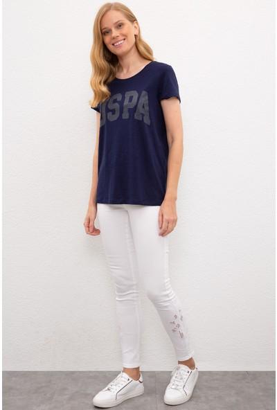 U.S. Polo Assn. Kadın Lacivert T-Shirt 50225789-Vr033