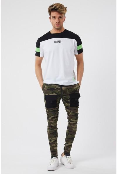 Denim Republic Erkek Kamuflaj Cep Detaylı Dar Kesim Pantolon