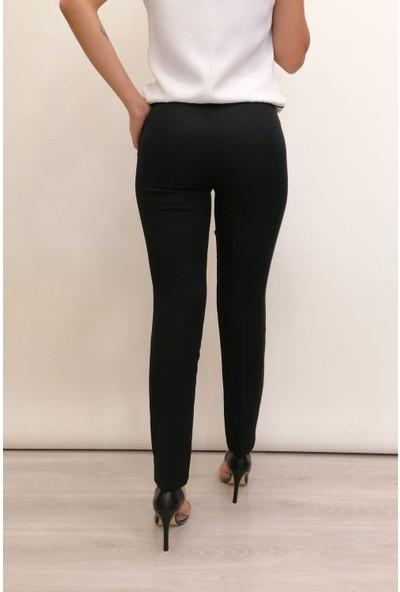 S.Y. Collection Siyah Dar Paça Kumaş Pantolon - ZNP-0004
