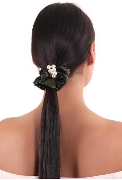 Labalaba Hahai Kadın Inci Boncuk Detaylı Scrunchie Toka