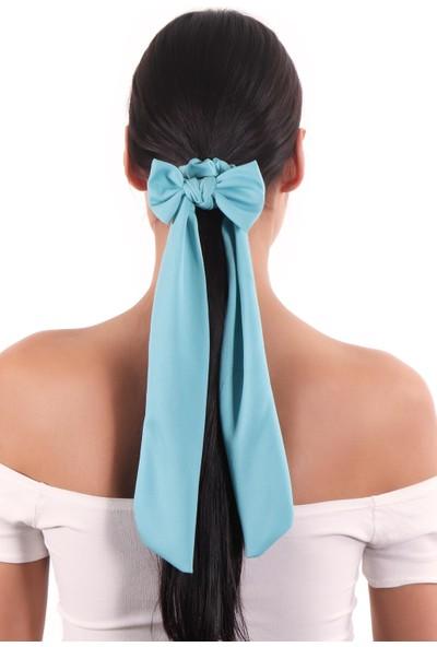Labalaba Hahai Kadın Uzun Kurdele Model Scrunchie Toka