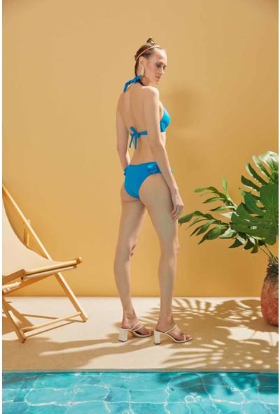 Sunlife Volanlı Boyundan Bağlamalı Bikini