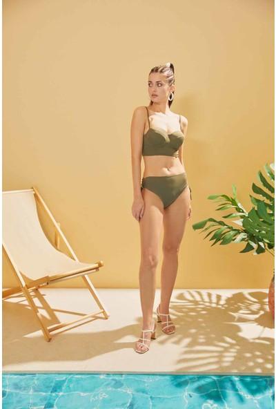 Sunlife Yüksek Bel Bağlamalı Bikini