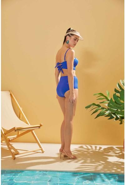 Sunlife Saks Straplez Yüksek Bel Bikini