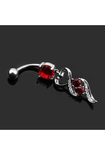 VipBT Kırmızı Tilki Kuyruğu 316L Paslanmaz Cerrahi Çelik Piercing