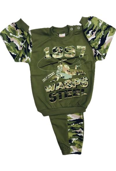 Çağkon Askeri Kamuflaj Bebek Pijama Takım Pamuk