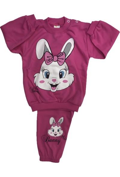 Çağkon Tavşanlı Bebek Pijama Takım Pamuk