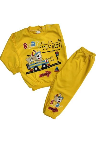 Çağkon Ayıcık Bebek Pijama Takım Pamuk