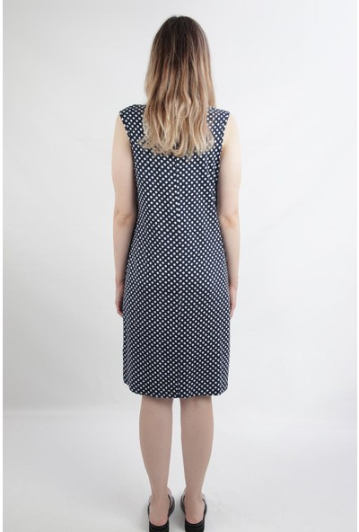 Alexandergardı Puantiyeli Günlük Elbise, Lacivert (B20-499 00)