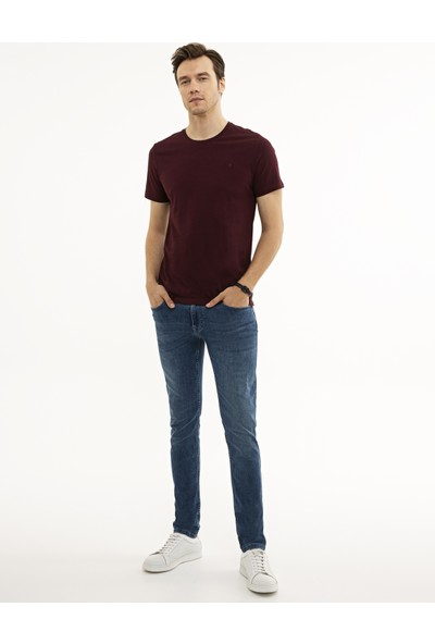 Pierre Cardin Bordo Slim Fit T-Shirt 50225511-VR014