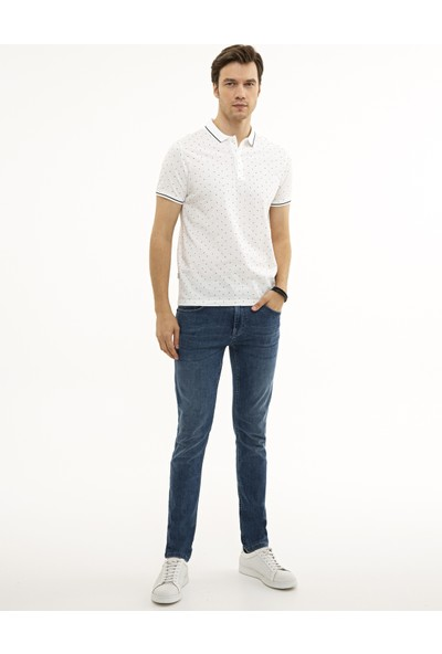 Pierre Cardin Beyaz Slim Fit T-Shirt 50226835-VR013