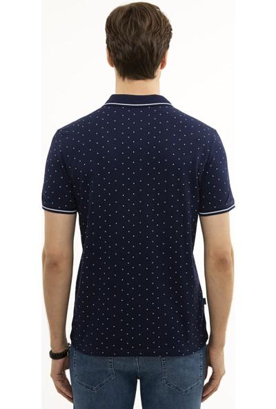 Pierre Cardin Lacivert Slim Fit T-Shirt 50226835-VR033