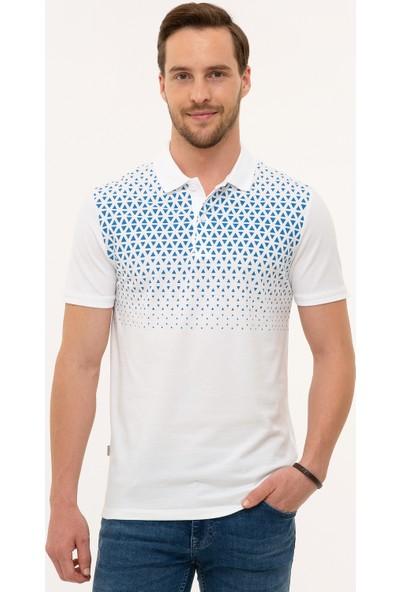 Pierre Cardin Beyaz Slim Fit T-Shirt 50226838-VR013