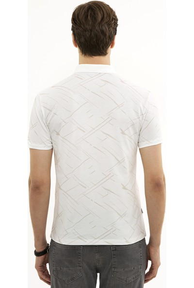 Pierre Cardin Beyaz Slim Fit T-Shirt 50226908-VR013